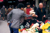 Ankara, men at street bazaar