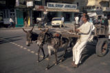 Karachi, donkey cart on city street