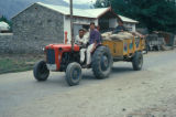 Gilgit, men transporting goods with tractor trailer