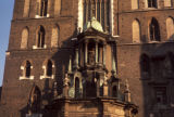 Cracow, architectural detail of St. Mary's Church