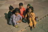Delhi, children sitting