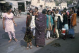 Jaipur, women gathering in street