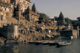 Varanasi (also known as Benares), bathing in Ganges river