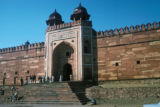 Fatehpur Sikri, arched gateway in complex wall