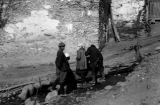 Svanetian villagers retrieving water in Lachamul