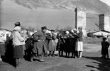 Svanetian villagers dancing in Mestia