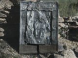 Medieval silver icon at a church in Laham near Mestia