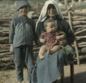 Grandmother with grandchildren at Lachamul