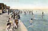 Bathing beach, Milwaukee, Wis.
