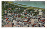 An aerial view of Milwaukee, Wis.