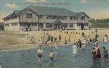 Bathers and public bath house, Milwaukee, Wis. 4757