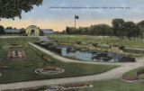 Sunken Garden in beautiful Mitchell Park, Milwaukee, Wis.