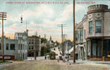 Street scene at Wauwatosa, on T.M.E.R. & L. CO. Line, Milwaukee, Wis.