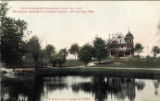 Superintendent's residence from the Lake, Milwaukee Asylum for Chronic Insane, Wauwatosa, Wis.