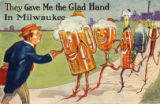 They gave me the glad hand in Milwaukee