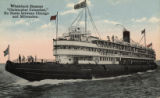 Whaleback Steamer 'Christopher Columbus,' En Route between Chicago and Milwaukee