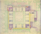 Project 0167. Plot and first floor plan for Allen-Field Elementary School (Milwaukee, Wis.)