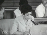 News film clip of Vel Phillips speaking on fair housing legislation, continued, June 13, 1967...