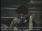 Vel Phillips discussing open housing legislation at a common council meeting, November 29 1966...
