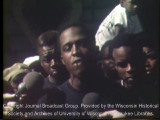 Prentice McKinney speaking to reporters about the Freedom House burning, August 30 1967 (partial)