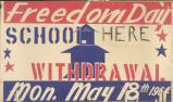 Freedom Day School Poster