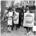 Stop bussing for segregation march, James Groppi center, 1968