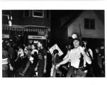 NAACP march with police escort, James Groppi center, circa 1967-1968