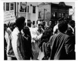 Civil rights march, James Groppi center, circa 1967-1968