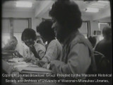 News film clip from the special report on school boycotts and de facto segregation in Milwaukee,...