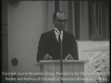 News film clip from the special assignment on school boycotts and de facto segregation in...