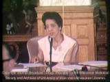 News film clip of Milwaukee Common Council meeting regarding open housing legislation, September...