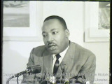 News film clip of Martin Luther King speaking at UW-Milwaukee, November 23, 1965 [with sound and...