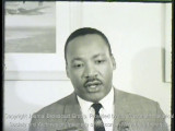 News film clip of Martin Luther King speaking at UW-Milwaukee, November 23, 1965 (with sound, 2 of...
