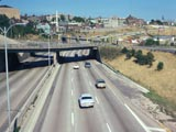 I-94 Expressway, east from the 27th Street Viaduct