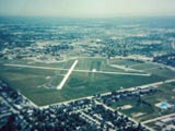 Aerial view of Lawrence J. Timmerman Airport