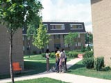 Highland Park public housing development, courtyard