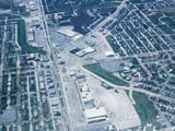 Aerial view over Southgate Shopping Center and Point Loomis Shopping Center
