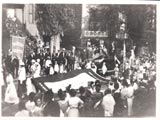 South 5th Place (Garden Street), flag ceremony