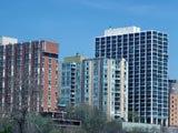 Prospect Avenue high-rise apartment buildings seen from Juneau Park