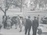 West Hayes Avenue and West Windlake Avenue, wedding participants on street