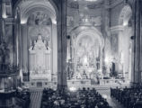 Church interior during mass