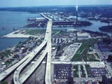 Hoan Bridge (Milwaukee Harbor Bridge) and Jones Island