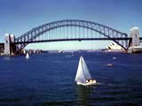 The Sydney Harbor Bridge in Sydney, Australia