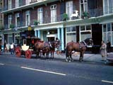Horse-drawn coach on street in Windsor, England