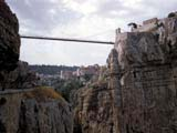 The Sidi M'Cid suspension Bridge in Qacentina, Algeria
