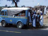 Bus on road, Senegal