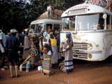 Buses stopped in Burkina Faso