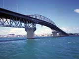Auckland Harbor Bridge in Auckland, New Zealand