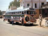 Bus at bus stop in India