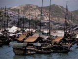 Houseboats in Hong Kong